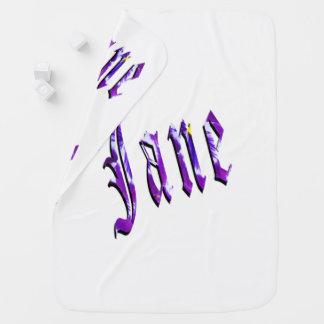 Cobertor De Bebe Jane, nome, logotipo, do branco cobertura do bebê