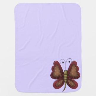 Cobertor De Bebe Lavanda da borboleta do país unisex