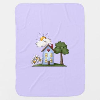 Cobertor De Bebe Lavanda da casa de campo unisex