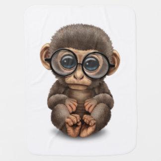 Cobertor De Bebe Macaco bonito do bebê que veste os vidros do olho