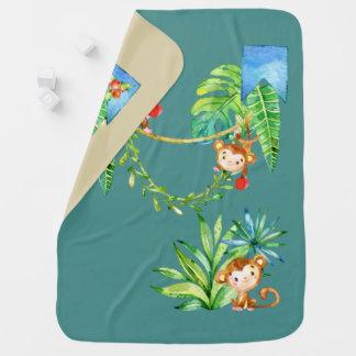 Cobertor De Bebe Macaco do bebê