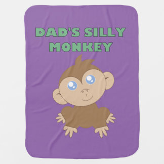 Cobertor De Bebe Macaco parvo - cobertura do bebê