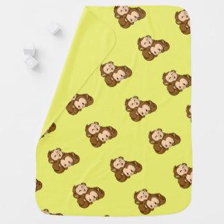 Cobertor De Bebe Macacos parvos!