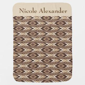 Cobertor De Bebe Nativo americano Brown tribal