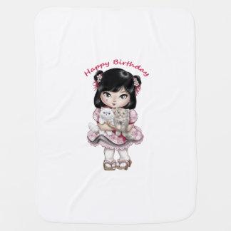 Cobertor De Bebe O feliz aniversario cobre os bebés