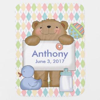 Cobertor De Bebe Presentes personalizados urso da boa notícia de