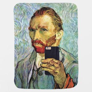 Cobertor De Bebe Retrato de auto de Selfie do telemóvel de Vincent