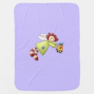 Cobertor De Bebe Roxo da lavanda do anjo do jardim do país