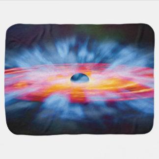 Cobertor De Bebe Saídas do buraco negro - conceito colorido do