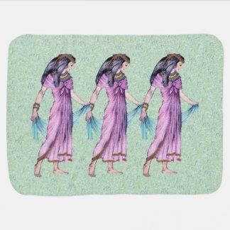 Cobertor De Bebe Senhora egípcia bonito antiga princesa no roxo