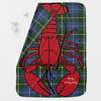 Cobertor De Bebe Tartan de Nova Escócia da lagosta do Natal da