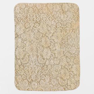 Cobertor De Bebe Teste padrão floral do laço velho do Crochet +
