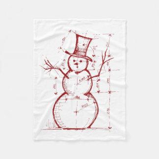 Cobertor De Velo A cobertura do velo do Natal do engenheiro do