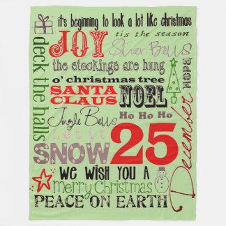 Cobertor De Velo Alegrias da estação do Natal