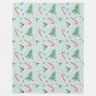 Cobertor De Velo Árvores de Natal e bastões de doces