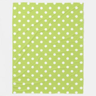 Cobertor De Velo Bolinhas verdes e brancas em folha de palmeira