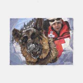 Cobertor De Velo Busca e salvamento de Shepard do alemão na neve