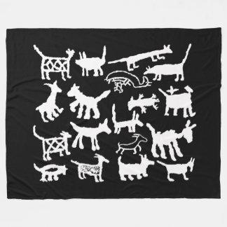 Cobertor De Velo cães e chacais da coleção do petroglyph