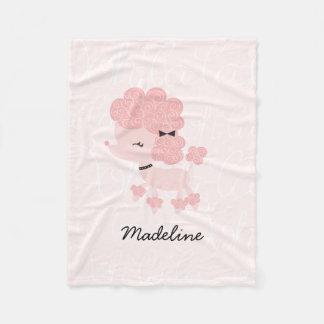 Cobertor De Velo Caniche francesa cor-de-rosa feminino