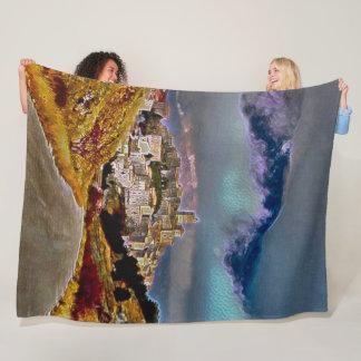 Cobertor De Velo Castelo Del Monte, arte do acrílico de Abruzzo,