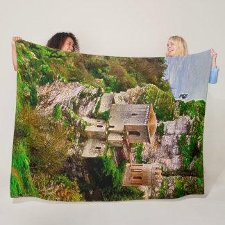 Cobertor De Velo Castelo do penhasco, arte do acrílico de Sicília,
