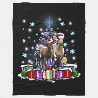 Cobertor De Velo Cavalos com estilos do Natal
