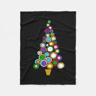 Cobertor De Velo Círculo da cobertura do velo do Natal das luzes