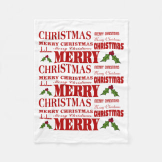 Cobertor De Velo Cobertura alegre alegre do velo do Feliz Natal