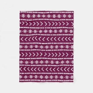 Cobertor De Velo Cobertura áspera da neve - framboesa