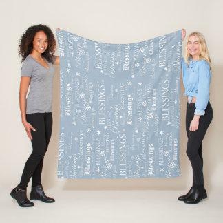 Cobertor De Velo Cobertura azul e branca pulverulento do velo das