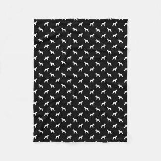 Cobertor De Velo Cobertura da silhueta do cão do Schnauzer