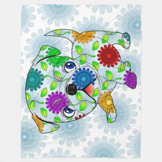 Cobertor De Velo Cobertura do bebê do filhote de cachorro do Pug -
