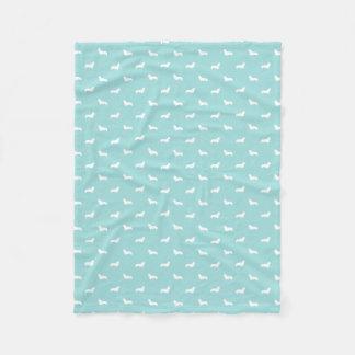 Cobertor De Velo cobertura do cão do corgi - silhuetas do corgi
