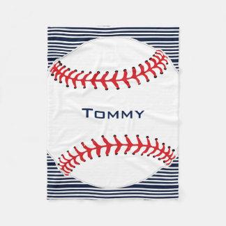 Cobertor De Velo Cobertura do velo do design do basebol