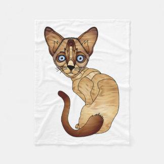 Cobertor De Velo Cobertura do velo do gato Siamese
