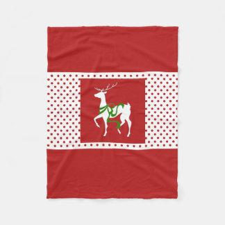 Cobertor De Velo Cobertura do velo do Natal do elogio da rena