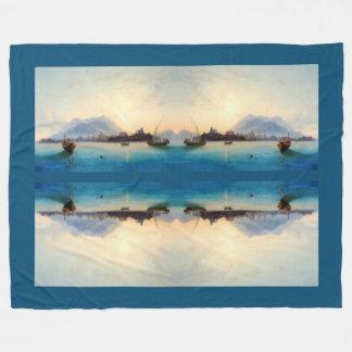 Cobertor De Velo Cobertura do velo dos barcos de pesca de Italia da