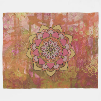 Cobertor De Velo Cobertura floral colorida delicado do velo da