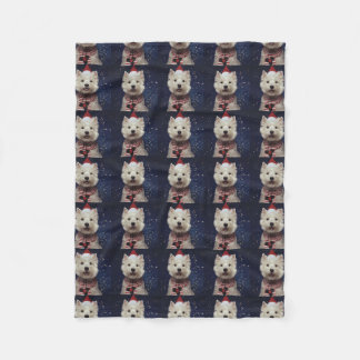 Cobertor De Velo Cobertura ocidental do velo do Natal de Terrier