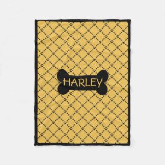 Cobertor De Velo Cobertura personalizada amarelo do cachorrinho