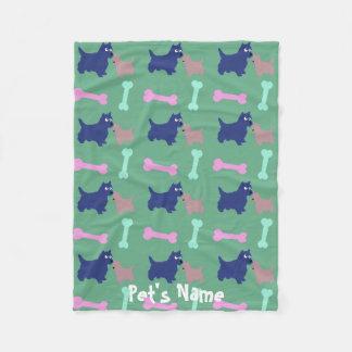 Cobertor De Velo Cobertura personalizada ossos 1 do cão de Terrier