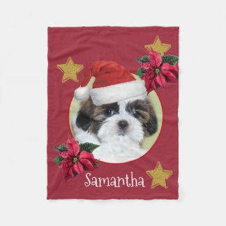 Cobertor De Velo Cobertura personalizada Tsu do velo do cão de Shih