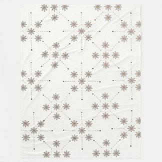 Cobertor De Velo Constelação floral (abstrato)