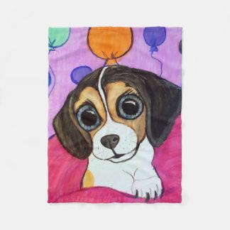 Cobertor De Velo Filhote de cachorro do lebreiro com balões