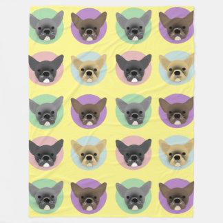 Cobertor De Velo Filhotes de cachorro do buldogue