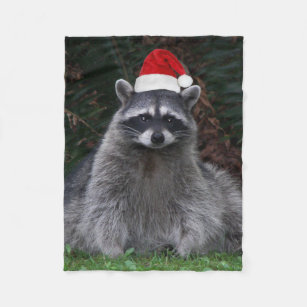 1be39a697d5 Cobertor De Velo Foto do guaxinim do Natal pequena