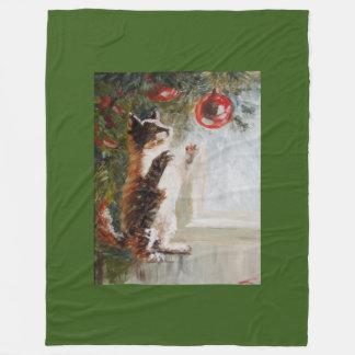 Cobertor De Velo Gato do Natal