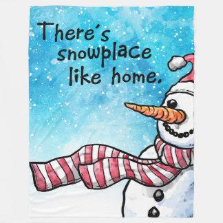Cobertor De Velo Há Snowplace como a grande cobertura Home do velo