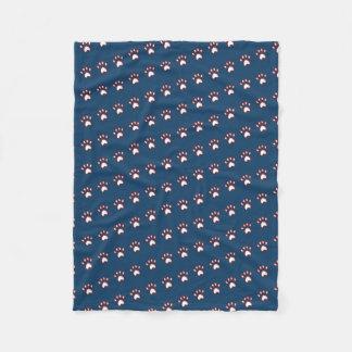 Cobertor De Velo Impressão customizável das patas do marinho do cão