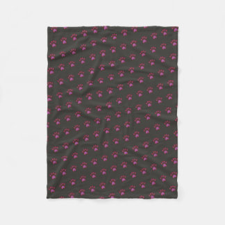 Cobertor De Velo Impressão vermelho das patas do cão customizável